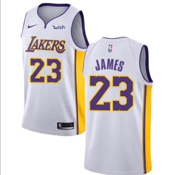 lebron james lakers jersey men white